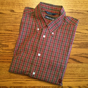 Nautica Long Sleeve, Button Down Shirt